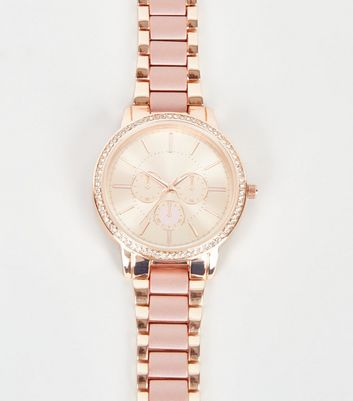 Rose Gold Diamanté Sub Dial Watch