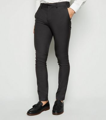 Black Super Skinny Stretch Trousers