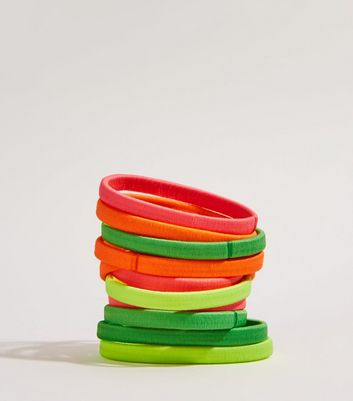 Multicoloured Neon Ponio Hairbands