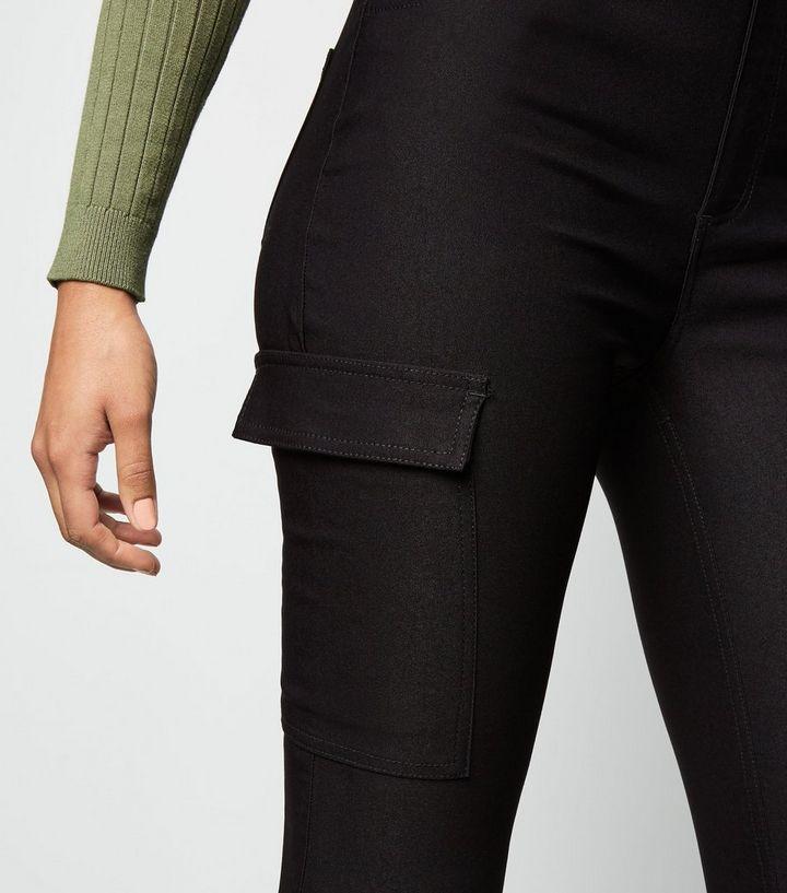 perfekte Qualität ein paar Tage entfernt große Auswahl an Designs Schwarze Skinny-Hose mit Stretch-Anteil und Tasche mit Utility-Flair Für  später speichern Von gespeicherten Artikeln entfernen