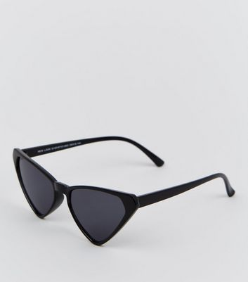 Black Angular Cat Eye Sunglasses