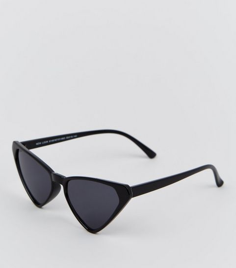 90211c5639 ... Black Angular Cat Eye Sunglasses ...