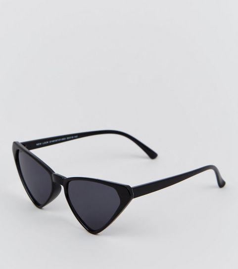 6af25849f77 ... Black Angular Cat Eye Sunglasses ...