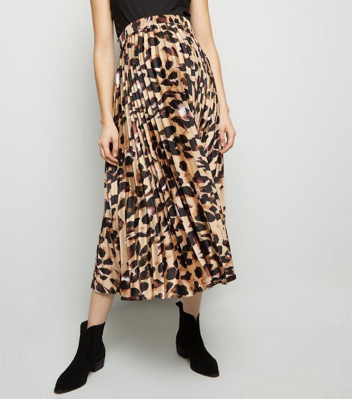 c831b4e9c56fb ... Maternity Brown Leopard Print Satin Midi Skirt. ×. ×. ×. Shop the look