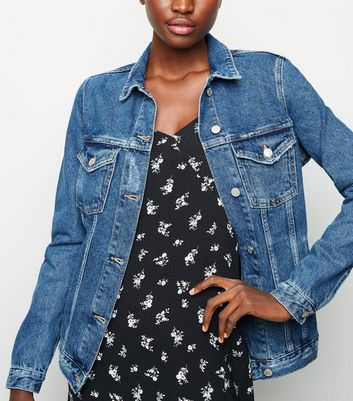 Tall Blue Oversized Denim Jacket by New Look