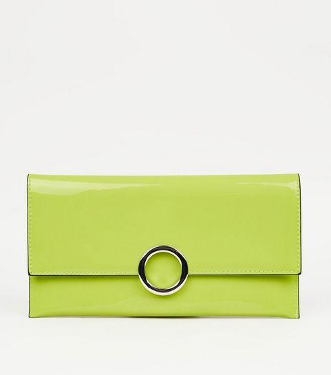 ... Green Neon Patent Clutch Bag ... c7448f3df