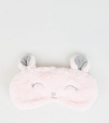 Pink Bunny Fluffy Eye Mask