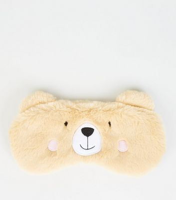 Light Brown Bear Fluffy Eye Mask