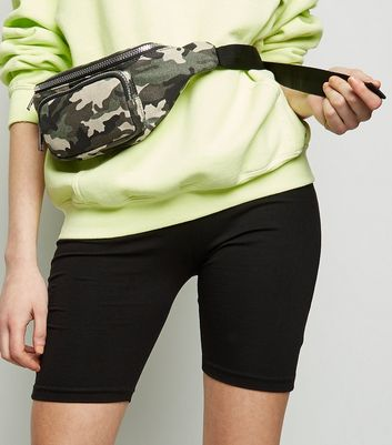 Green Camo Buckle Bum Bag