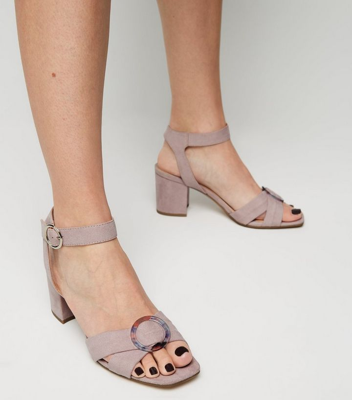 aa6c4a1ba72 ... Wide Fit Purple Resin Buckle Heeled Sandals. ×. ×. ×. Shop the look