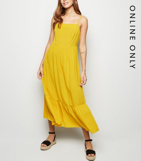 c08d0282a051 Women's Yellow Dresses | Mustard & Gold Dresses | New Look