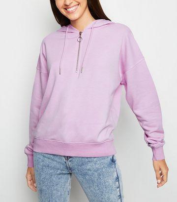 Lilac Half Zip Hoodie