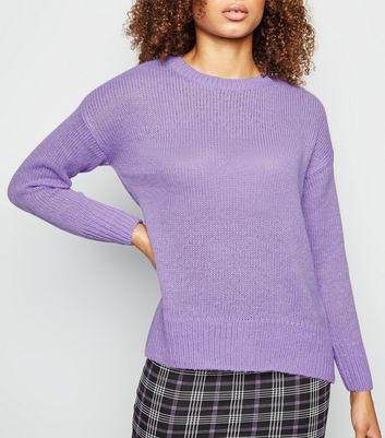 Pull lilas en maille