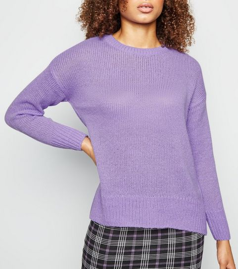 9c3e33daea3a08 Off White Pale Pink. Lilac Knitted Jumper · Lilac Knitted Jumper ...
