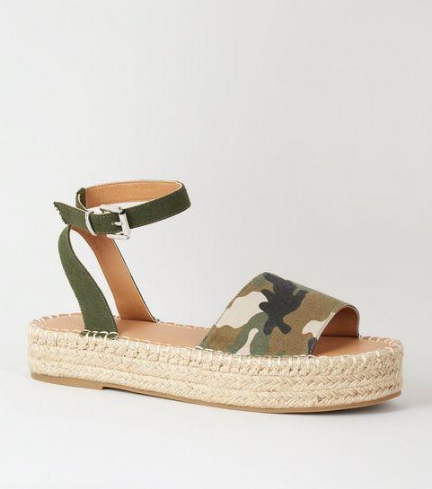 2b914417d Green Camo Espadrille Flatform Sandals · Green Camo Espadrille Flatform  Sandals ...