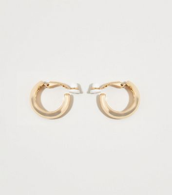 Gold Thick Clip Hoop Ear Cuffs