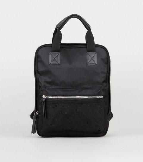 be81c324f4 Black Rectangular Zip Around Backpack · Black Rectangular Zip Around  Backpack ...