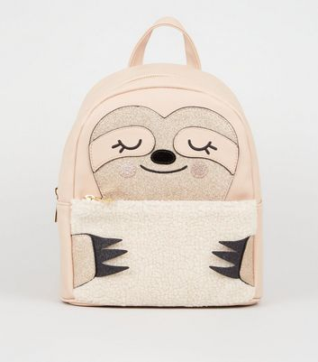 Camel Sloth Embroidered Backpack