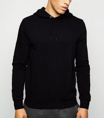 Black Pocket Front Long Sleeve Hoodie