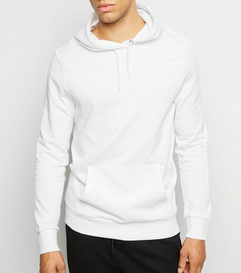 ... White Pocket Front Long Sleeve Hoodie ... 59753bf441