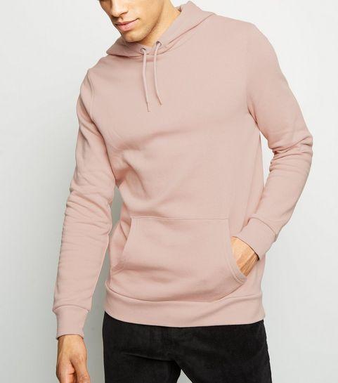 ... Pink Pocket Front Long Sleeve Hoodie ... 7ec437325c