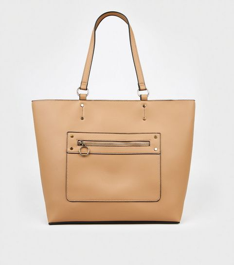 ... Camel Leather-Look Tote Bag ... 3148ca459e