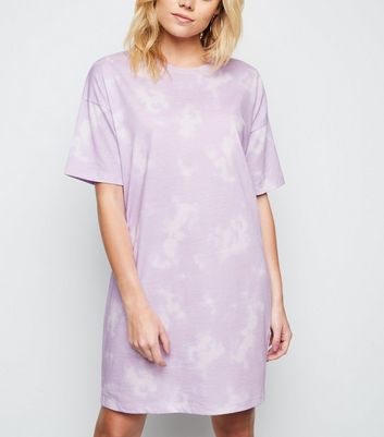 Purple Tie Dye Jersey T-Shirt Dress