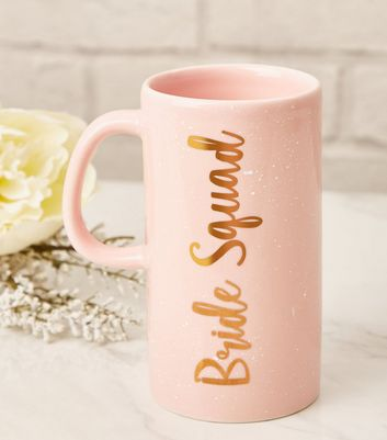 Pale Pink Bride Squad Speckled Mug