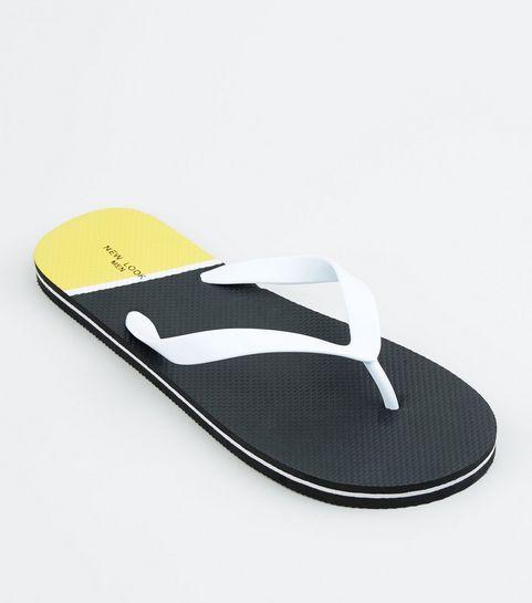 d863499f6643 ... Black Colour Block Sole Flip Flops ...