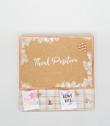 Rose Gold Grid Cork Board