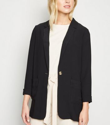 Tall Black Lightweight Long Sleeve Blazer