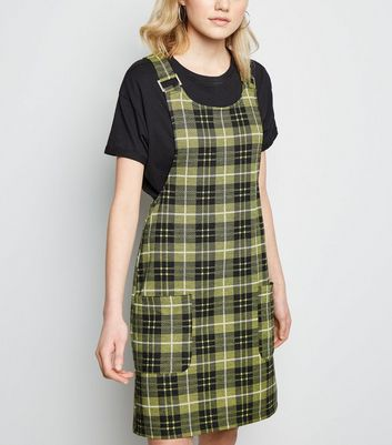 Tall Yellow Check Pinafore Dress
