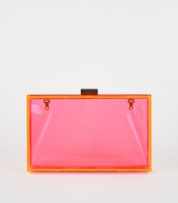 Bright Pink Neon Box Bag