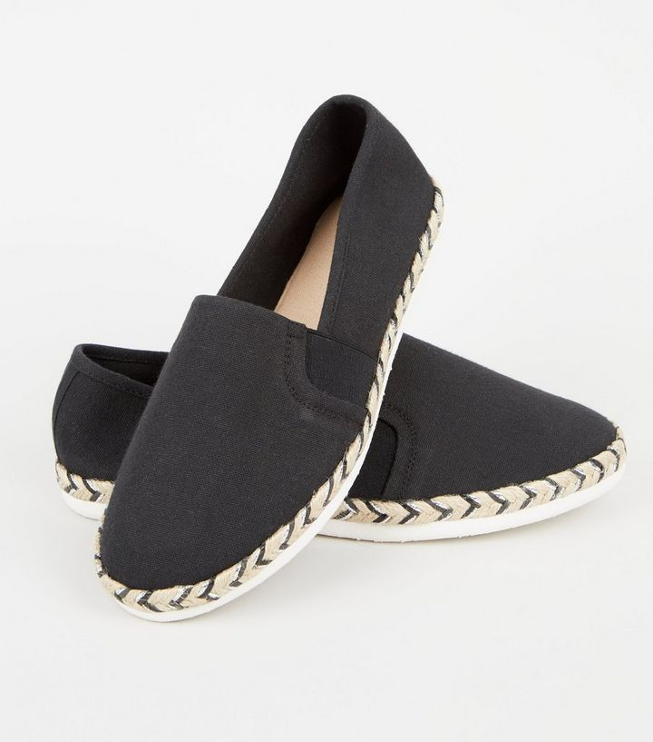 231ad69beb1 ... Wide Fit Black Canvas Metallic Sole Espadrilles. ×. ×. ×. Shop the look