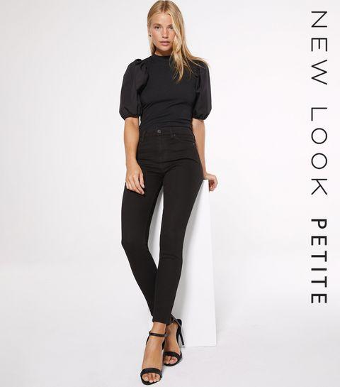 be5617b8521 ... Petite Black Super Soft Skinny Jeans ...