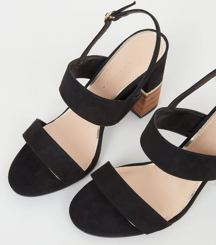 0b46ea0c184 ... Wide Fit Black Double Strap Sandals. ×. ×. ×. Shop the look