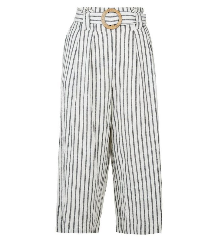7c3dcc539e ... White Linen Blend Cropped Trousers. ×. ×. ×. Shop the look