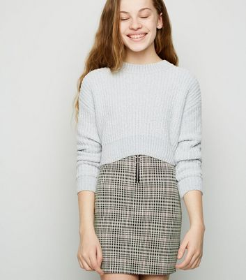 Girls Pink Check Ring Pull Skirt