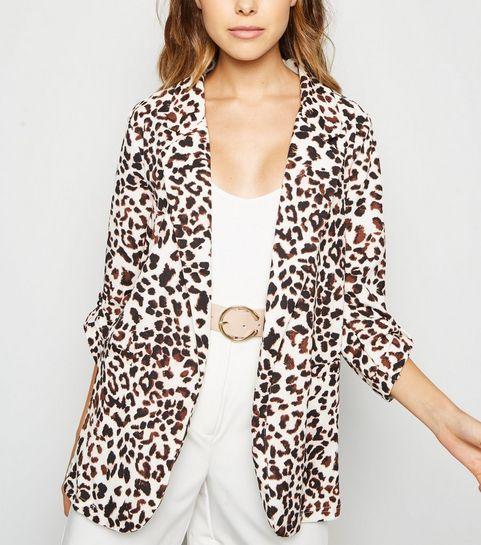 afc9187ca341 Brown Leopard Print Blazer · Brown Leopard Print Blazer ...