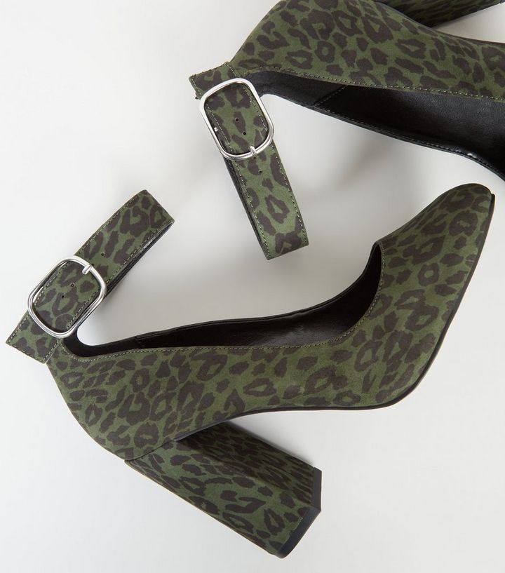 0b2bfe127bd ... Wide Fit Khaki Leopard Print Ankle Strap Courts. ×. ×. ×. Shop the look