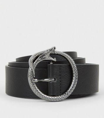 Schwarzer Gürtel mit Ring im Schlangendesign Für später speichern Von gespeicherten Artikeln entfernen