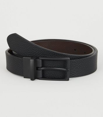Black and Brown Perforated Reversible Belt