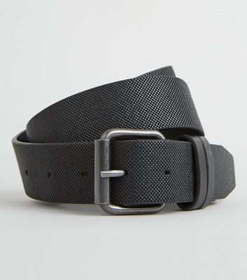 Black Double Keeper Textured Belt