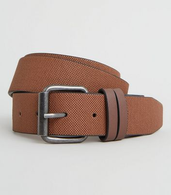 Rust Double Keeper Textured Belt