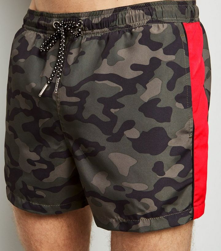 623884e872 ... Men's Swimwear · Khaki Camo Print Swim Shorts. ×. ×. ×. Shop the look