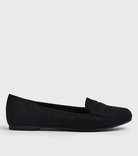 2dbd990569b88 Women's Loafers   Women's Tan & Black Loafers   New look