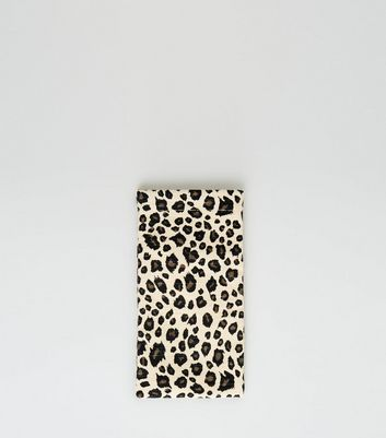 Light Brown Leopard Print Sunglasses Case