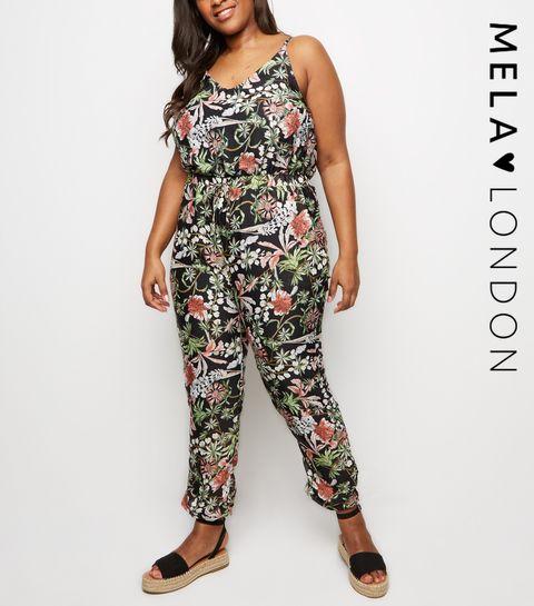 f23bde716d ... Mela Curves Black Floral Jumpsuit ...