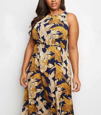 b6a374e093 Mela Curves Navy Tropical Maxi Dress New Look - £28.00 - Bullring & Grand  Central
