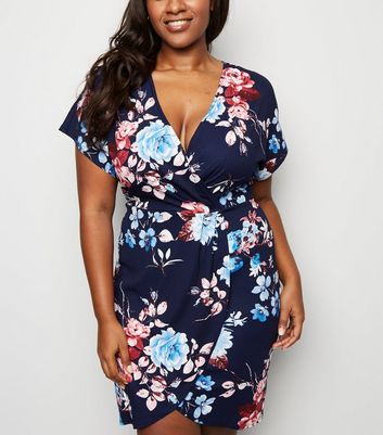 Mela Curves Floral Wrap Dress